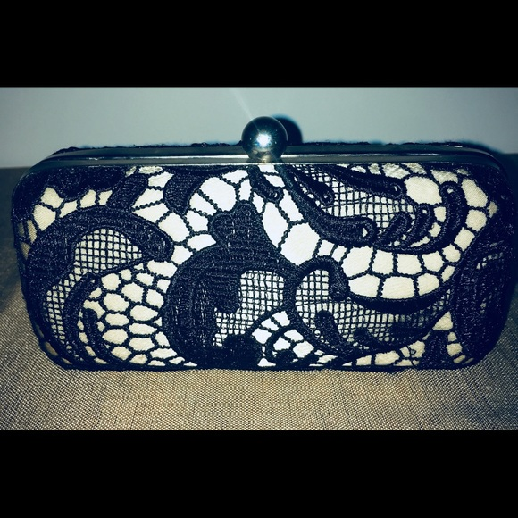 Lulu Townsend Bags Cream Black Lace Clutch Poshmark